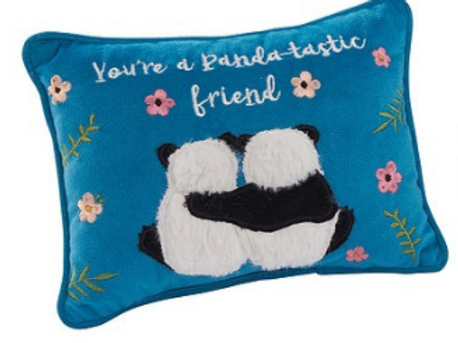 Small Blue Panda Cushion