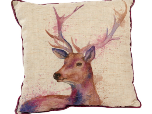 Painterly Stag Cushion