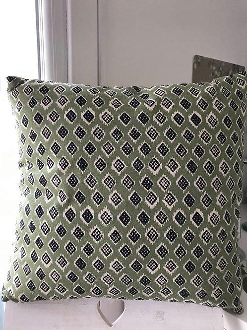Olive patterned cushion