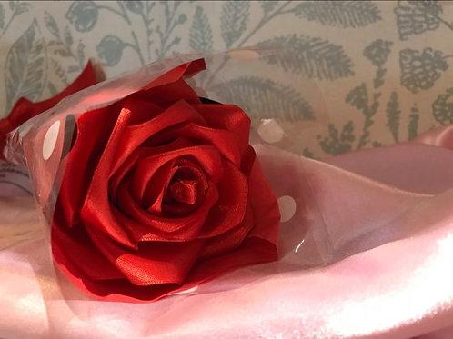 Single Large Red Ribbon Rose