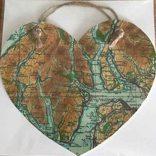 Loch Goil Map Heart