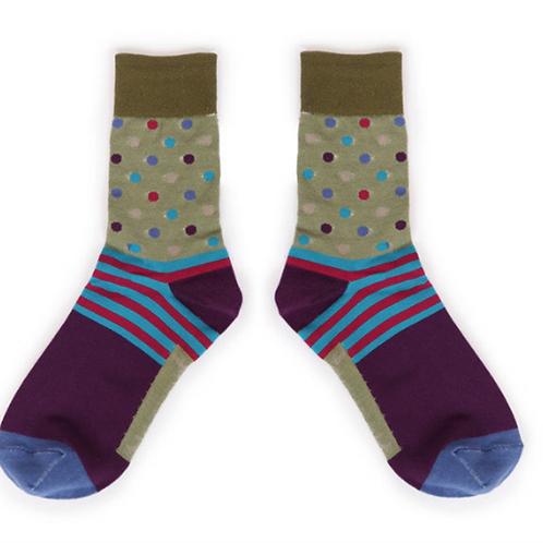 Spots Men's Ankle Socks by Powder