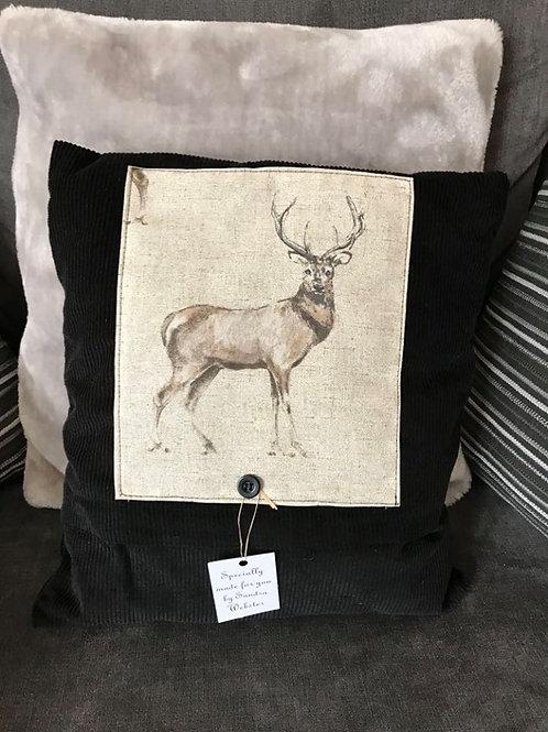 Black Cord Stag Cushion