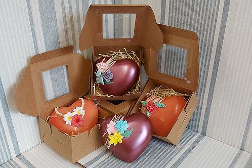 Chocolate Valentine Heart in Gift Box