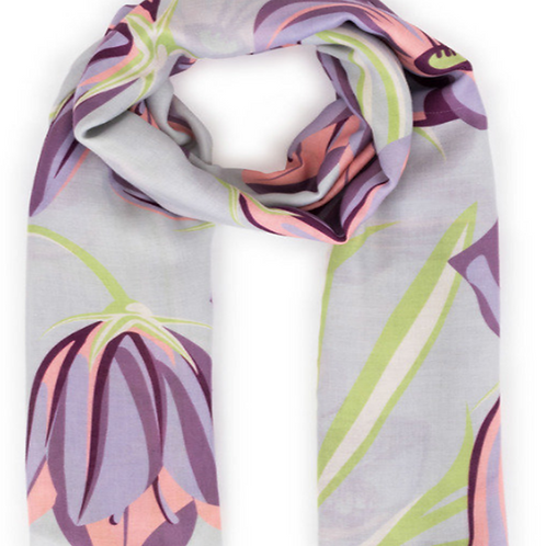 Bluebell Printed Scarf by Powder