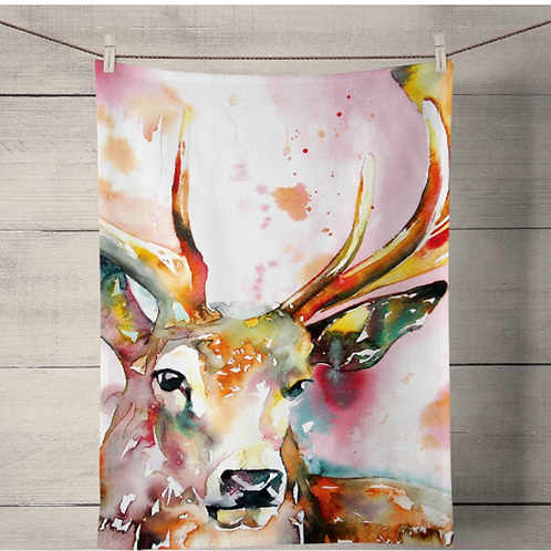 Red Stag Tea Towel