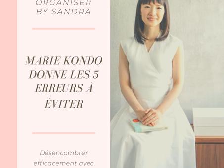 Marie Kondo donne les 5 erreurs à éviter pour réussir son rangement