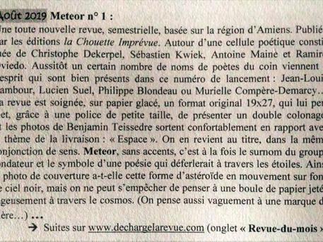METEOR, revue du mois !
