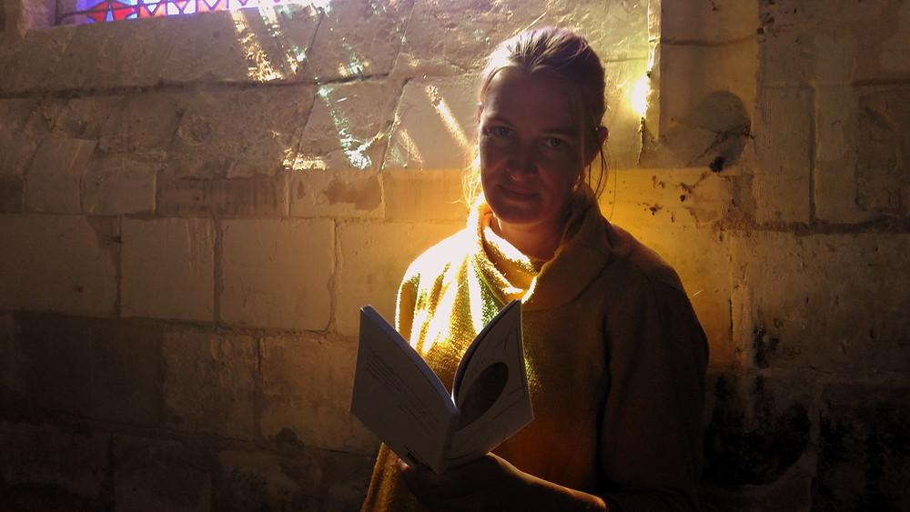 Emilie Gévart, auteure du recueil Gésir