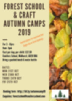 Forest School and Craft Autumn camp 2019