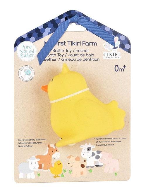 Игрушка из каучука Цыплёнок в подарочной упаковке Tikiri