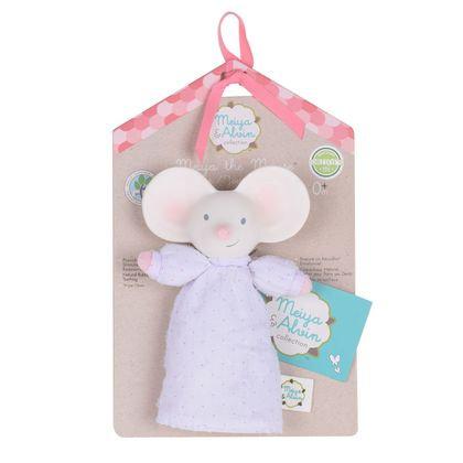 Мягконабивная игрушка-пищалка из натурального каучука мышка Meiya, Meiya&Alvin