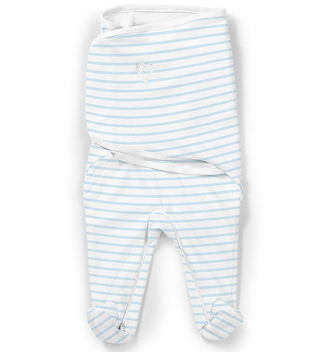 Конверт для пеленания SwaddleMe Footsie голубые полоски Summer Infant