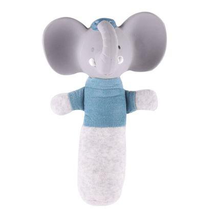 Мягконабивная игрушка-пищалка из натурального каучука слоник Alvin, Meiya&Alvin
