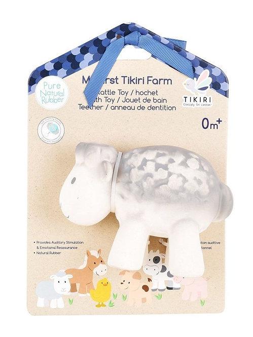 Игрушка из каучука Овечка в подарочной упаковке Tikiri