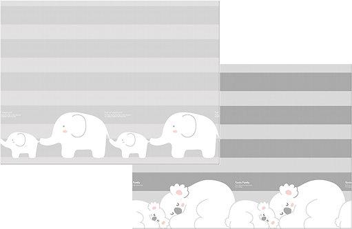 """Двухсторонний коврик Prime Living """"Коалы/Слоники"""" (200x180x1.0 см) Parklon"""