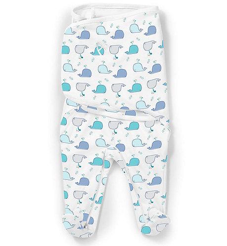 Конверт для пеленания SwaddleMe Footsie Киты Summer Infant