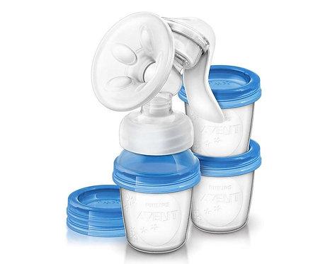 Молокоотсос ручной с силиконовой соской Philips Avent