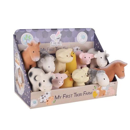 Игрушки из каучука Домашние животные (12 шт.) Tikiri