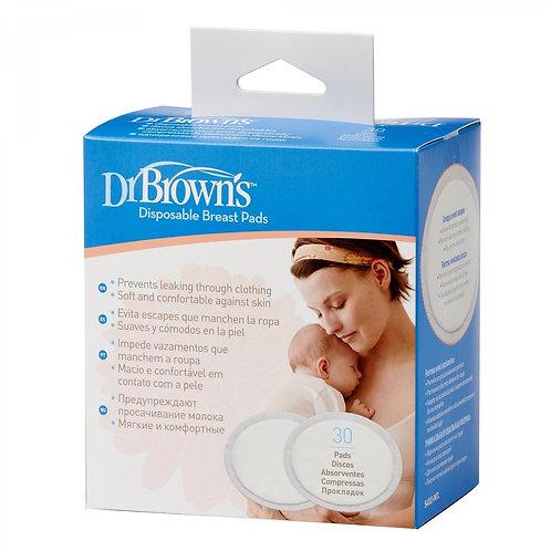 Прокладки для бюстгальтера впитывающие (одноразовые, 30 шт.) Dr Brown`s