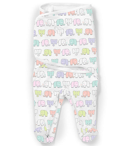 Конверт для пеленания SwaddleMe Footsie Слоны Summer Infant