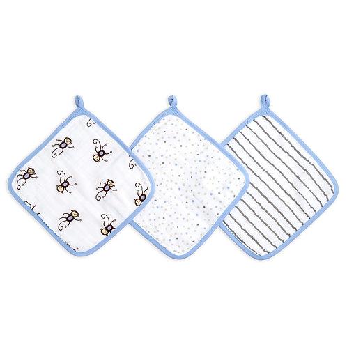 Набор из 3 полотенец для лица и рук MONKEYS Aden Anais