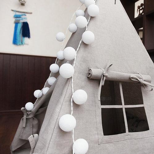 Светящиеся фонарики (20 шаров) белые Vigvamshop
