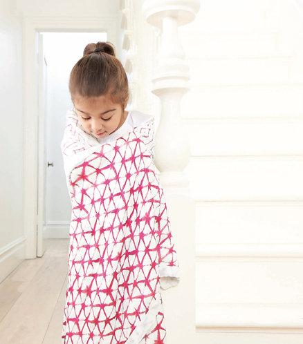 Одеяло из бамбука Berry Shibori Aden Anais