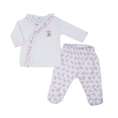 Распашонка и ползунки Tiny Polar Bears (розовый) Magnolia Baby