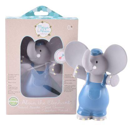 Игрушка из натурального каучука слоник Alvin, Meiya&Alvin