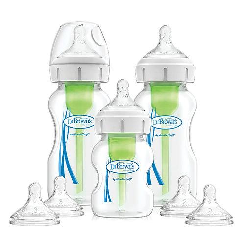 Набор из трех бутылочек Options+ с широким горлышком антиколиковых Dr Brown`s