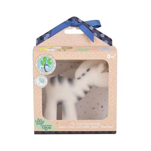 Игрушка из каучука Зебра в подарочной упаковке Tikiri