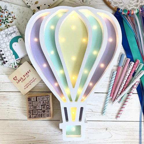 """Детский светильник из дерева """"Воздушный шар"""" 30 см Lampaiderevo"""