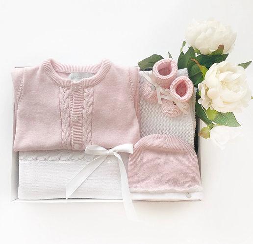 Комплект на выписку (Розовый/Белый) Mia Company