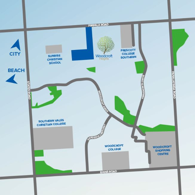 Woodcroft Heights Location Map