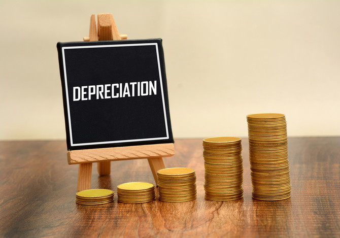 What is included in a depreciation schedule?