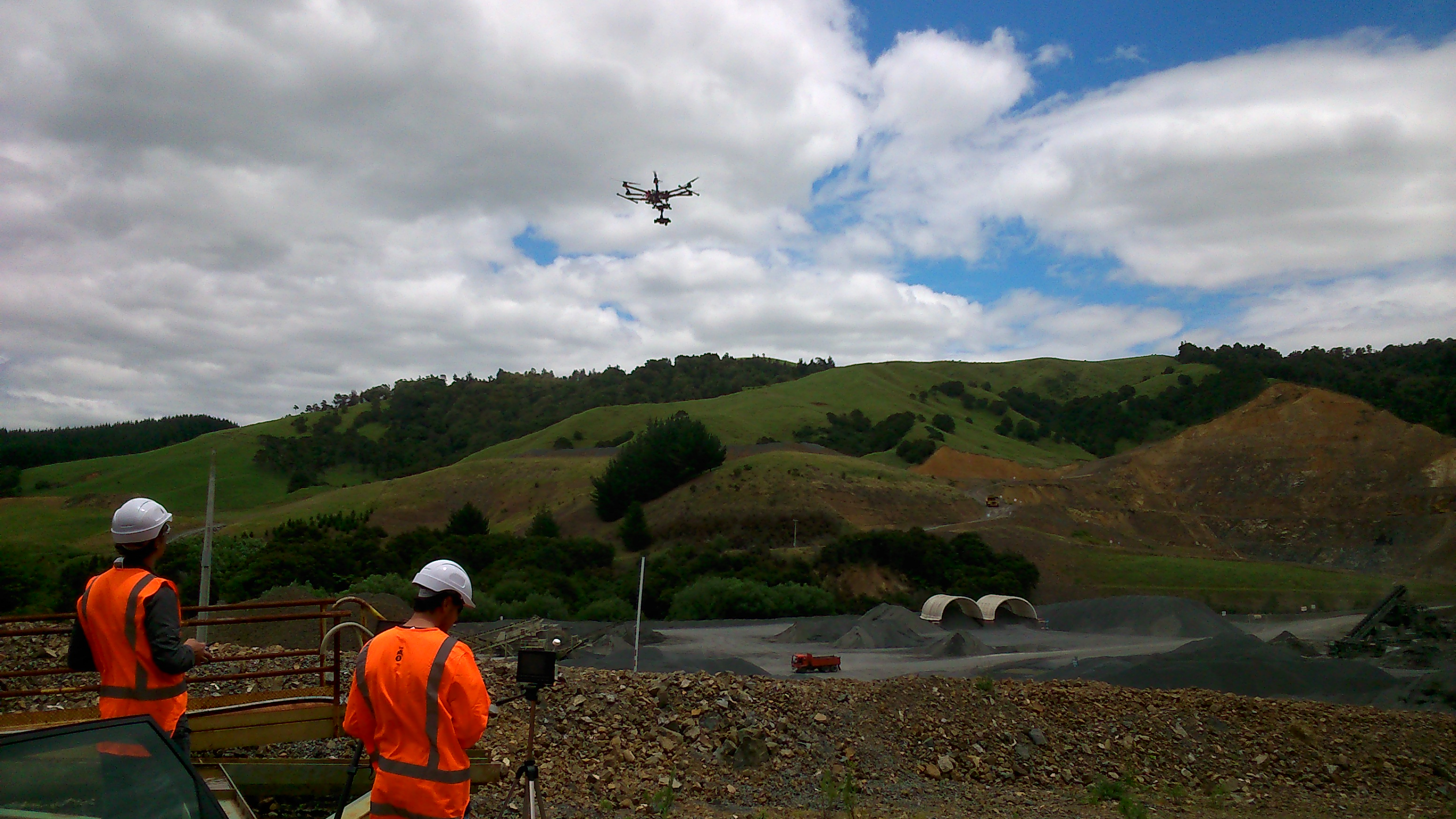 UAV Operation, Whitehall Quarry, NZ