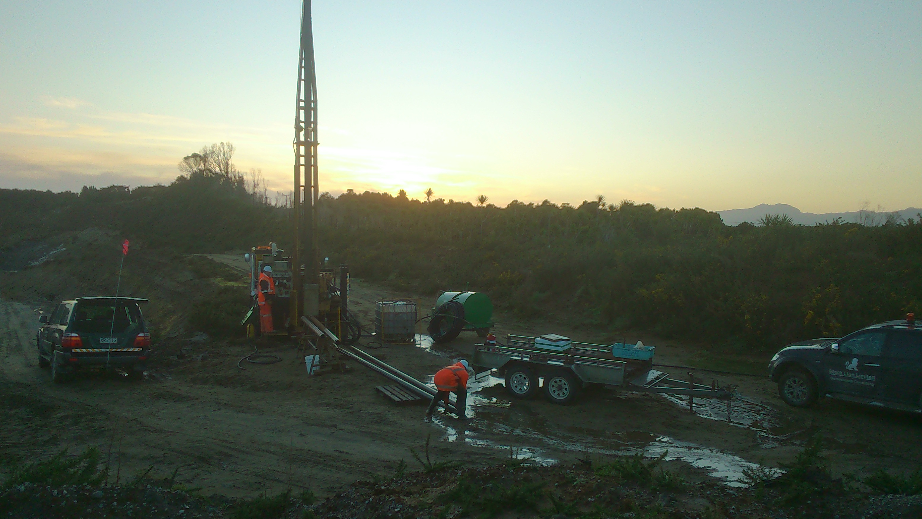 Dawn Drilling at Westport Quarry
