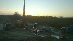 Dawn Drilling at Westport Quarry