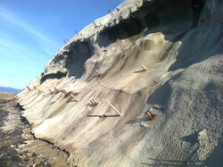 Reinforced Slope, Stockton, NZ