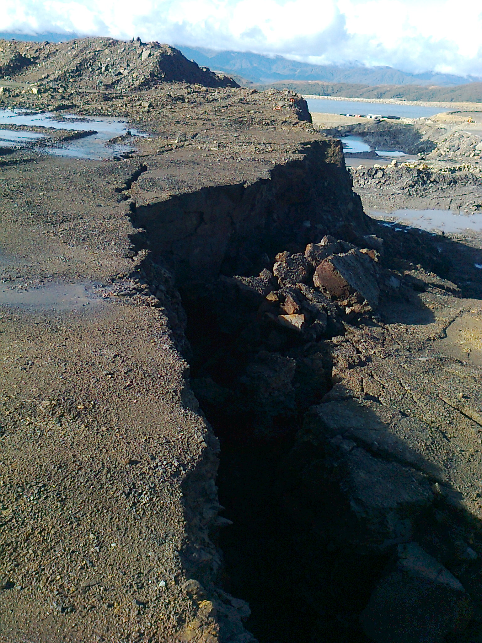 Slope Failure, Stockton, NZ