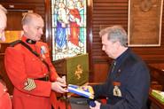 Chaplain Tom McCullagh Flag Presentation