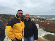 Chaplains Scott Carroll and Bruce Ewanyshyn on the Nova Scotia coast