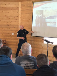 Chaplain Bruce presenting on Ukraine Police Missions Trip 2019