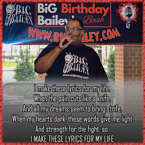 BiG bailey LYRICS for life quote