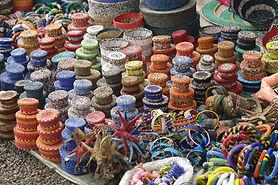 Waren auf einem Markt