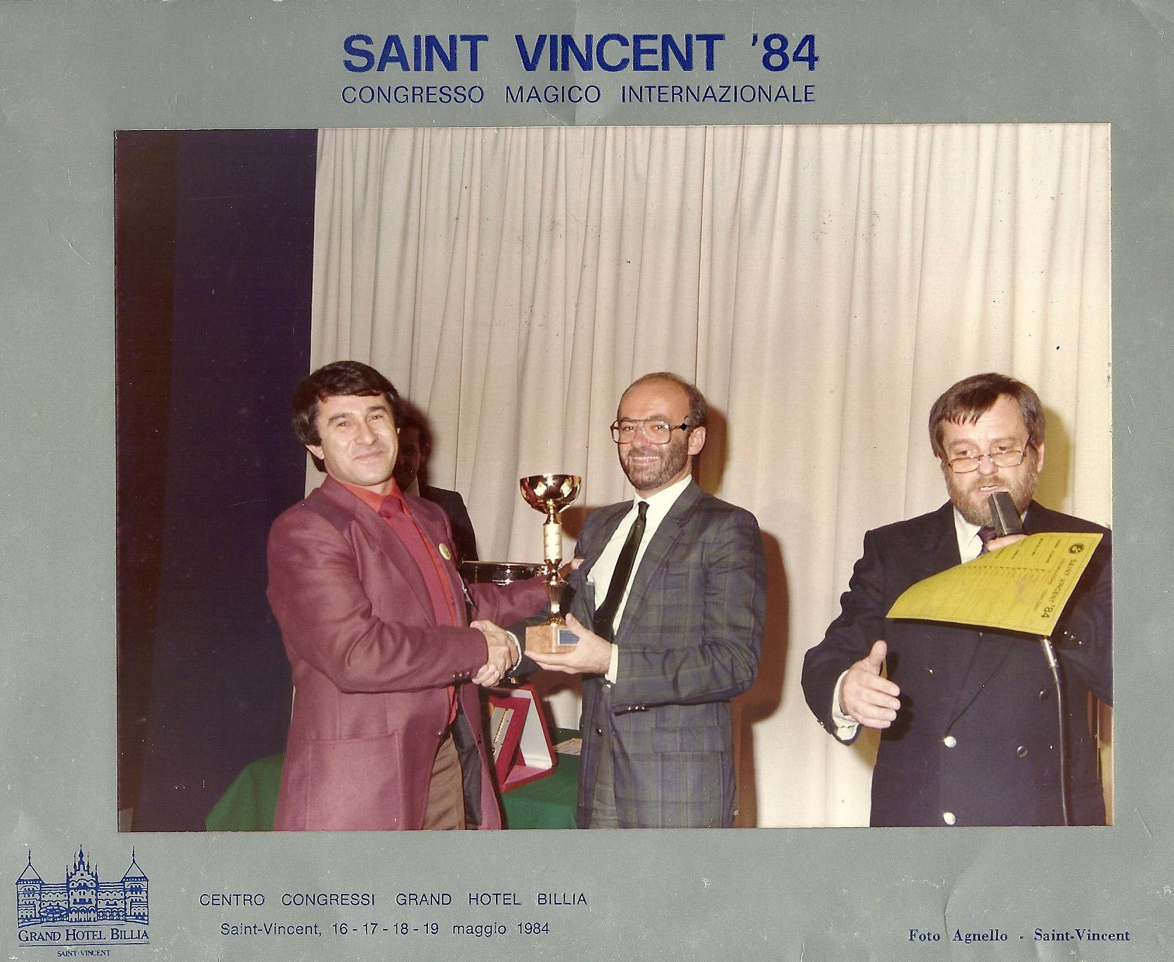 Premio Congresso Sint Vincent 84
