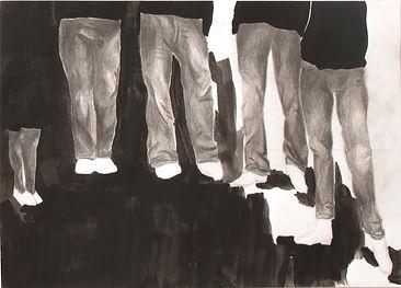 Theresa Berger, Malerei,Zeichung, die Wartenden