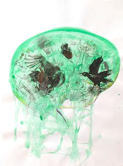 Theresa Berger, Störung, Zeichnung, Malerei