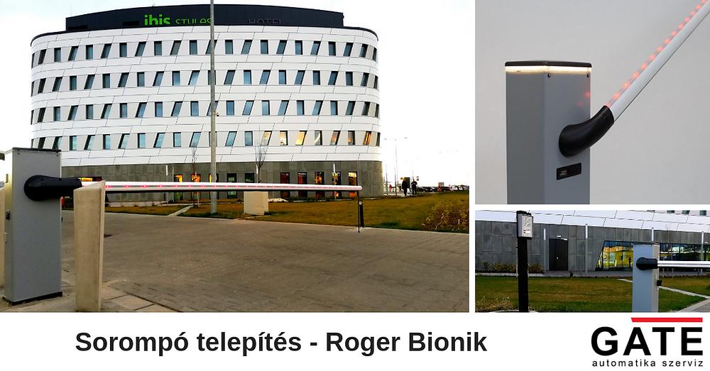 Roger Bionik sorompó telepítés GSM rendszerrel